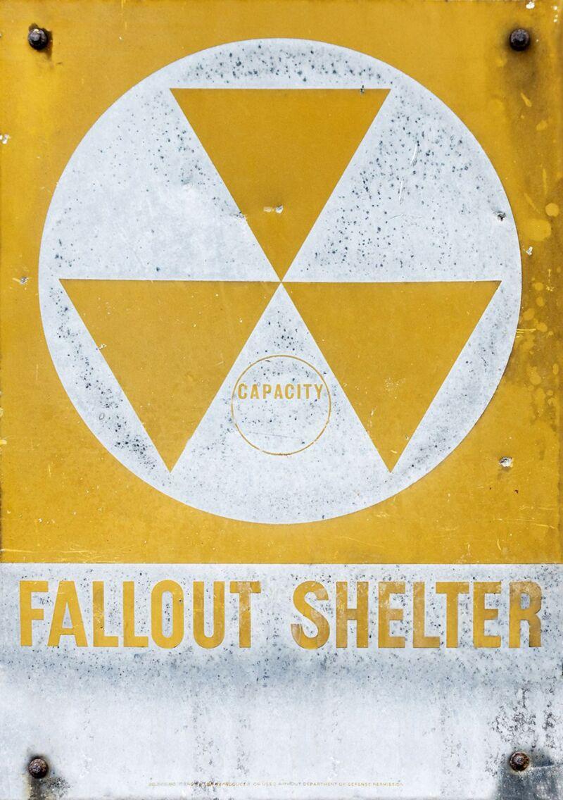 Letrero de refugio nuclear, Nueva York