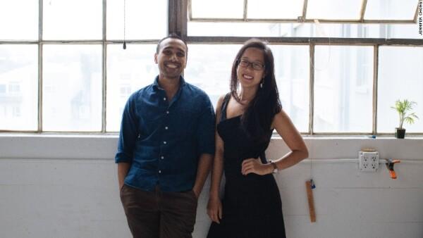 Roman Khan y Jennifer Chong.