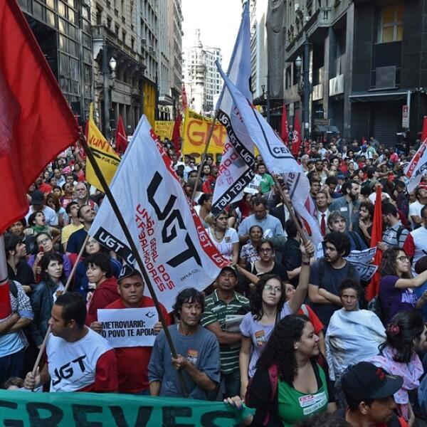 protestas Sao Paulo huelga 4