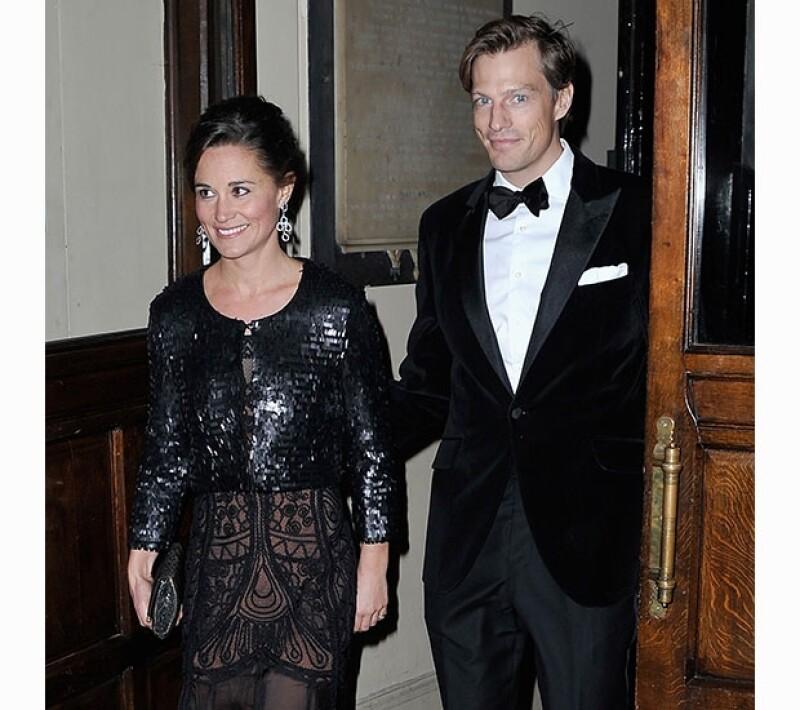 Pippa Middleton y Nico Jackson llegaron juntos al baile de beneficencia en Londres.