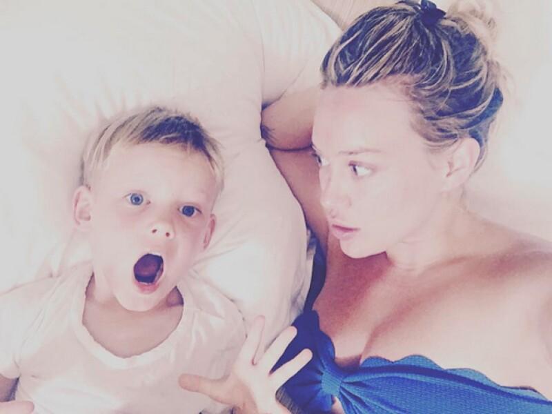 Hilary tuvo a su hijo Luca cuatro años atrás.