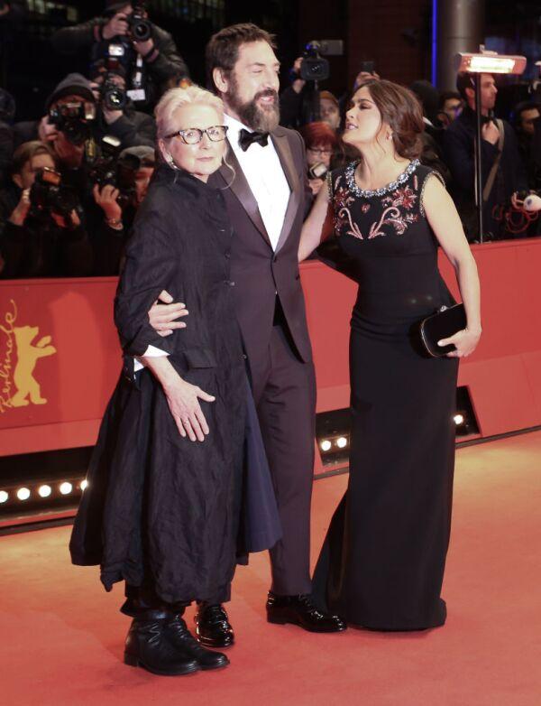 Sally Potter, Javier Bardem y Salma Hayek