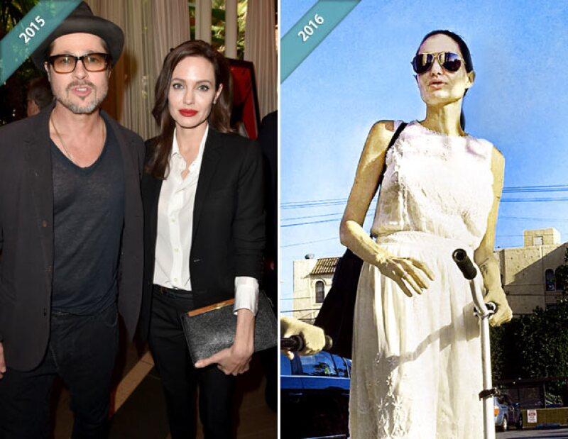 De un año para acá, Angelina ha cambiado considerablemente.