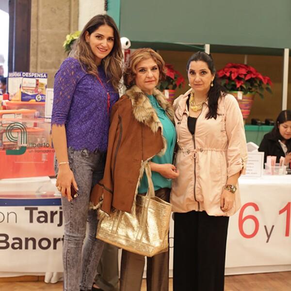 Giovanna Káram,Navika Haddad y Amira Káram
