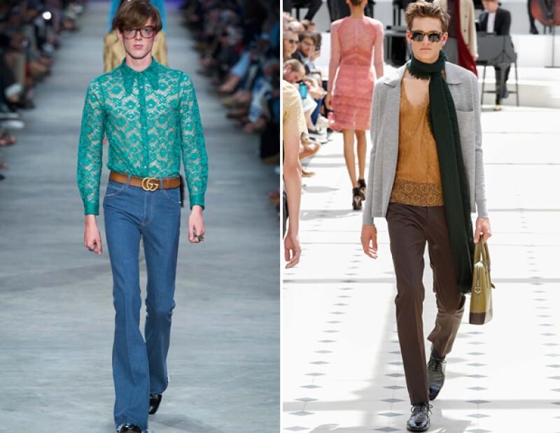 Gucci y Burberry presentaron piezas con encaje para S/S 16.