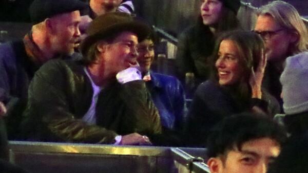 PREMIUM EXC Brad Pitt and Nicole Poturalski