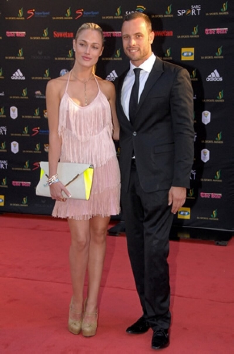Aquí Reeva y Oscar en noviembre de 2012 durante los Feather Awards.