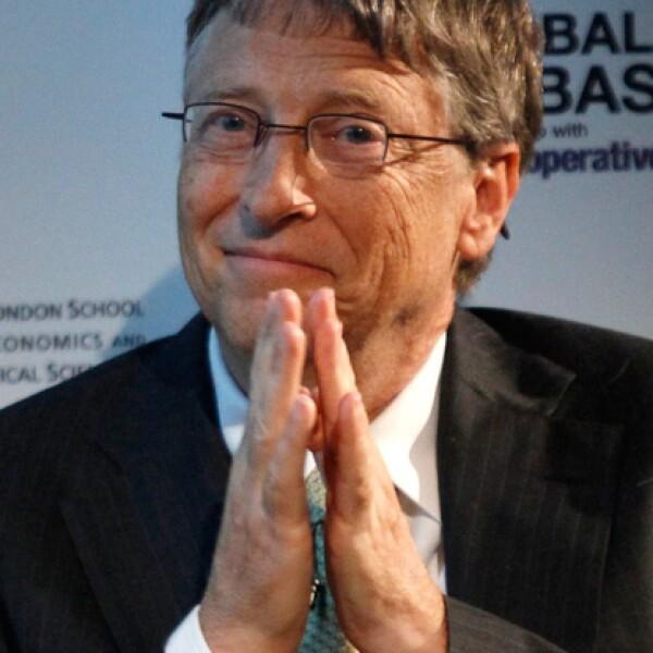 Bill Gates, cofundador de Microsoft y poseedor de 61,000 millones de dólares es el segundo hombre más adinerado sobre la faz de la tierra.