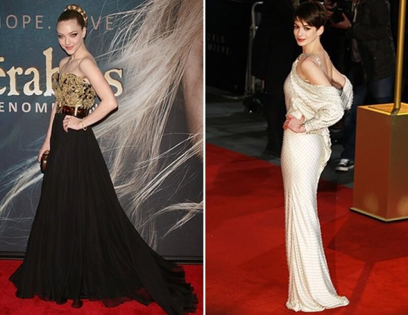 Las actrices protagonizan la adaptación a la pantalla grande del musical `Les Miserables´, y, para promover el filme, han sacado sus cartas más fuertes.