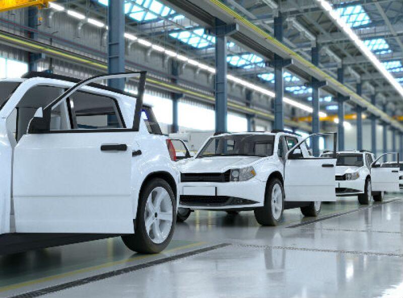 armadora de autos color blanco