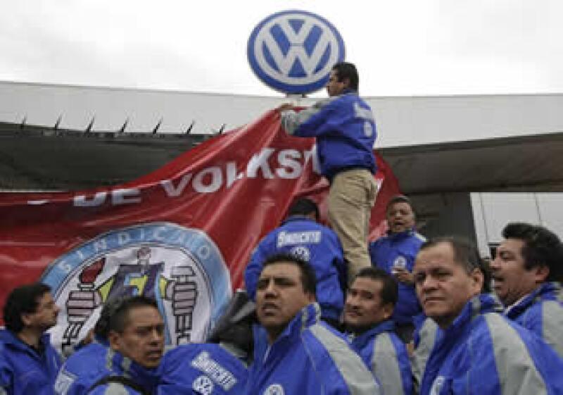 El sindicato de VW estalló la huelga ayer en Puebla. (Foto: Reuters)