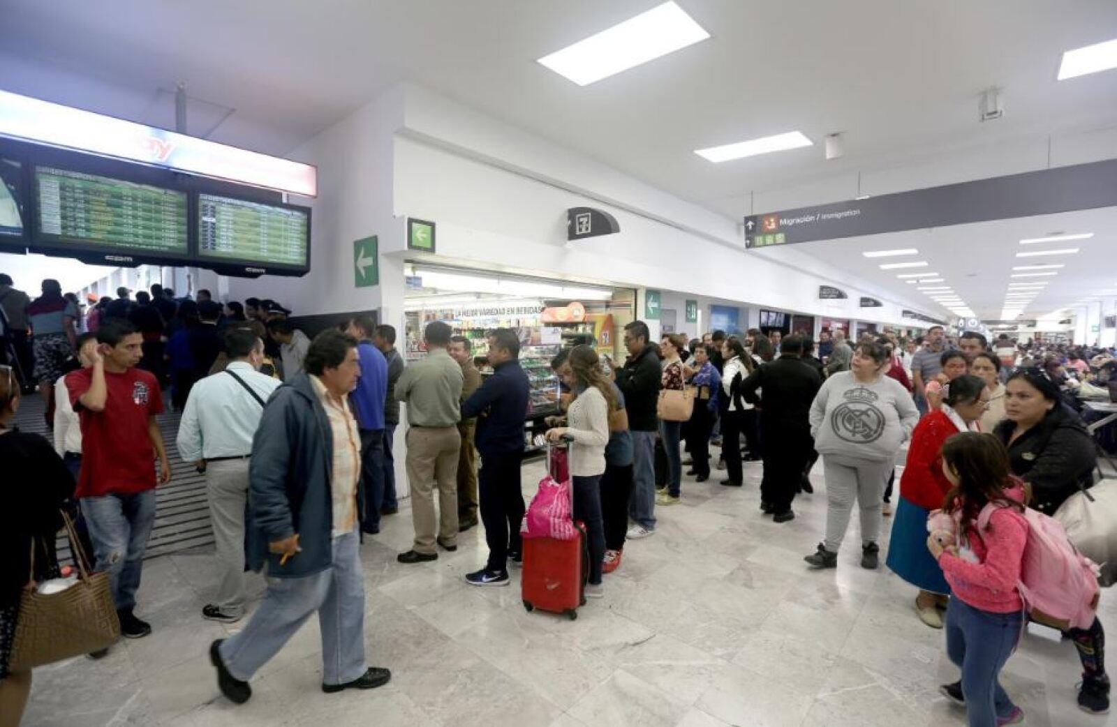 Voto en el aeropuerto