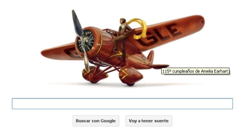 internet, google, doodle, amelia earhart, aviacion, piloto