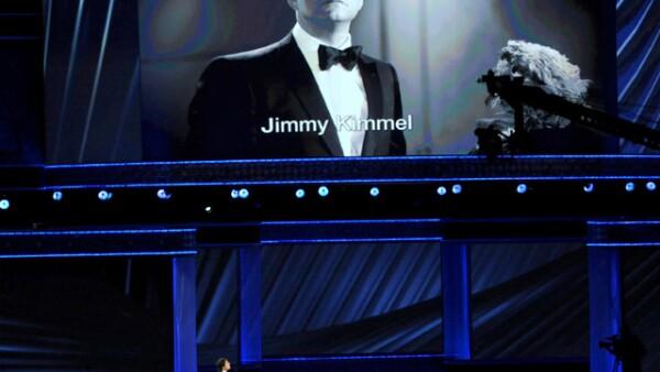 Cuando Jimmy Kimmel, el presentador de la gala, anunció el `in memoriam´, falso por cierto, en el que sólo aparecían momentos protagonizados por él.
