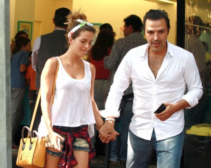 La pareja en una de sus recientes salidas a comer en Polanco.
