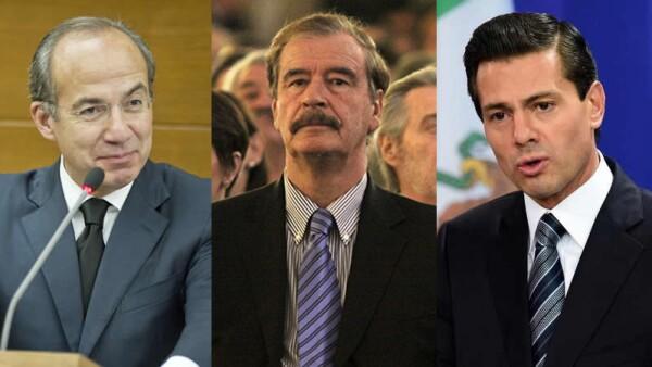 Los expresidentes panistas, Felipe Calderón y Vicente Fox han tenido opiniones contradictorias. Peña Nieto propone transitar de la prohibición a la prevención.