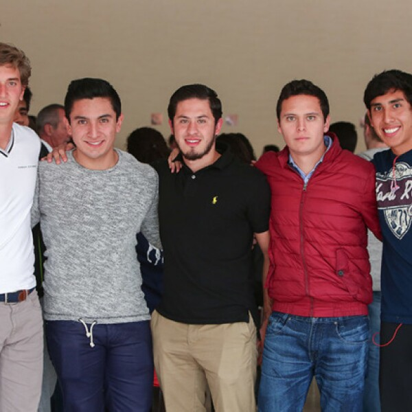 Sergio de la Torre,Brandon Mancera,David Gutiérrez,Erick Rosales y Marco Ortega