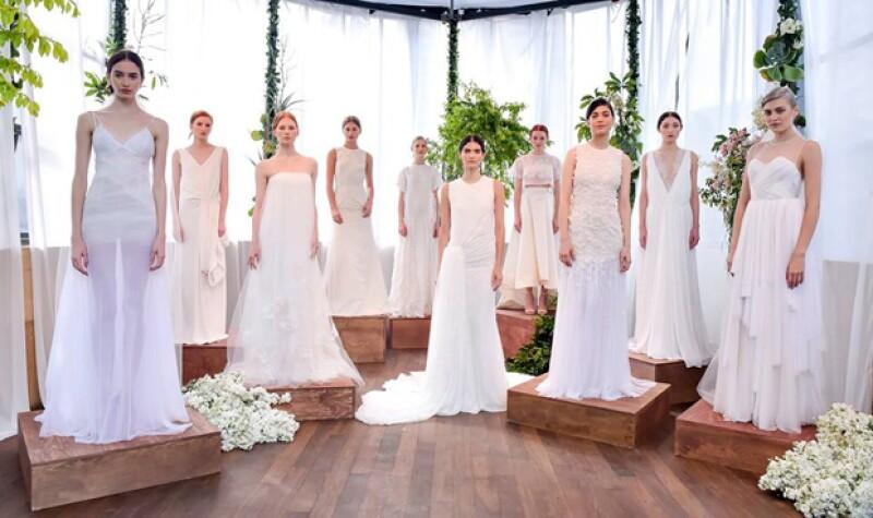 Algunas de las propuestas de la línea mexicana de lujo para novias.