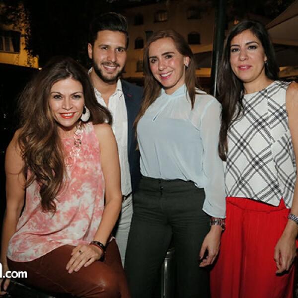 Fabrizio Cantisani, Cielo Unda, Carina Rodríguez y Carmen Martínez