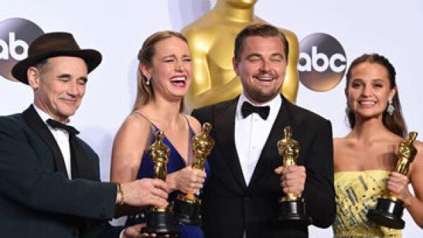 Los ganadores a mejores actores en los premios de la Academia. (Foto: Getty Images/Archivo)