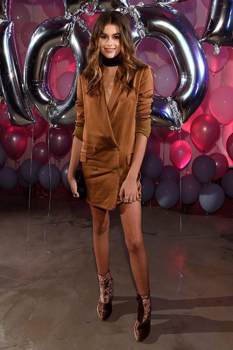 Este fue el look de la joven modelo en el after party de la premiación.