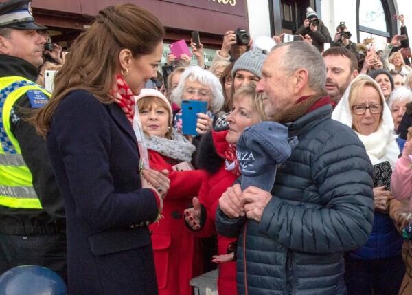 Kate Middleton, Denise Evans-Alford y Kevin Alford