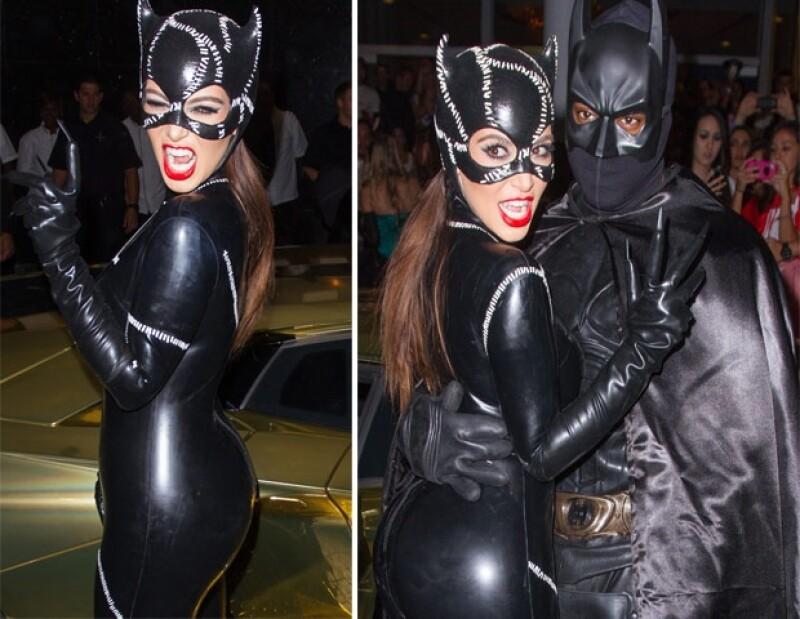 Kim y Kanye se vistieron de super héroes.