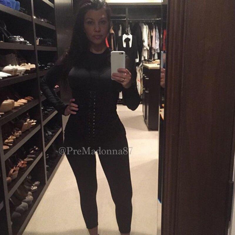 La mayor de las Kardashian mostró su proceso de perdida de peso en Instagram.