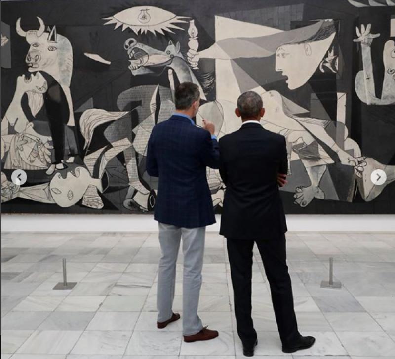 Felipe y Barack en museo