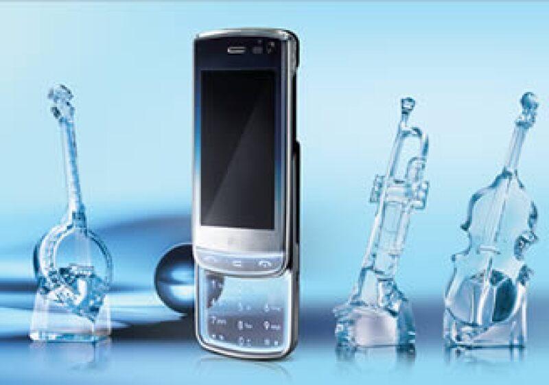El teléfono LG Crystal cuenta con un teclado transparente. (Foto: Cortesía)