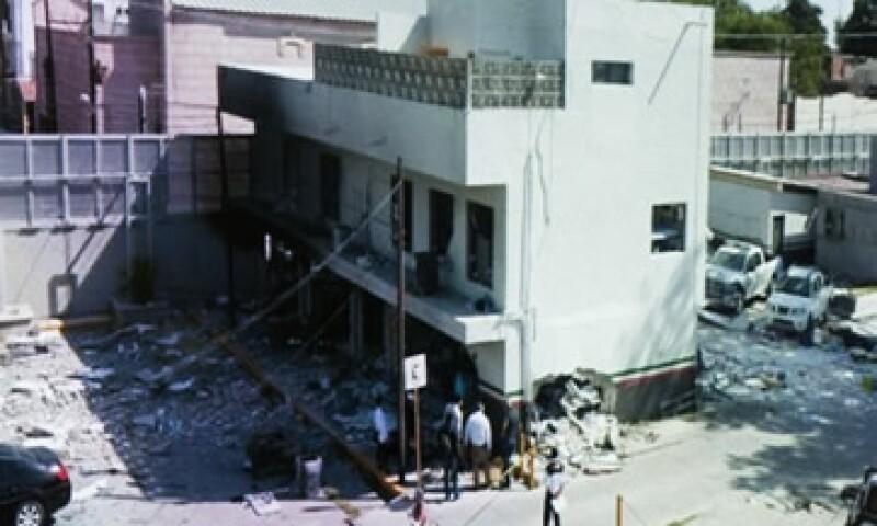 La explosión en un edificio del SAT en Coahuila causó la muerte de una persona. (Foto: Cuartoscuro)