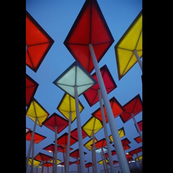Dentro del pabellón, los visitantes podrán apreciar diferentes propuestas artísticas representativas de México.
