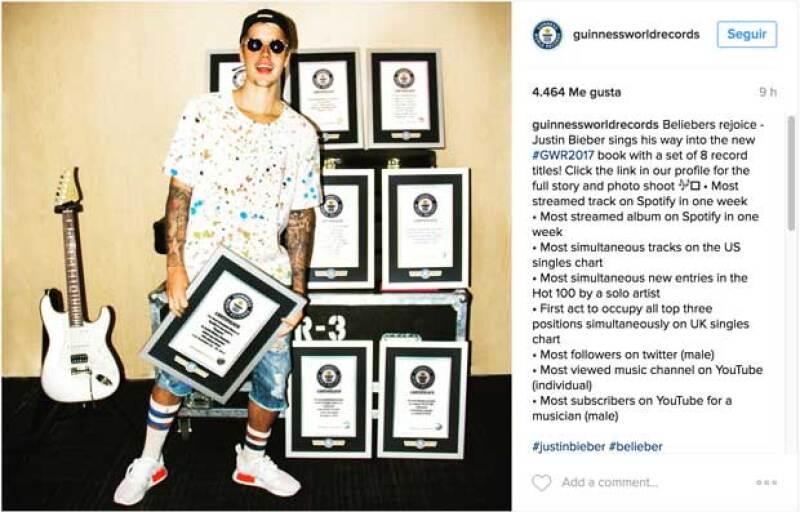 Esto publicó la cuenta de Instagram de Guinness World Records.