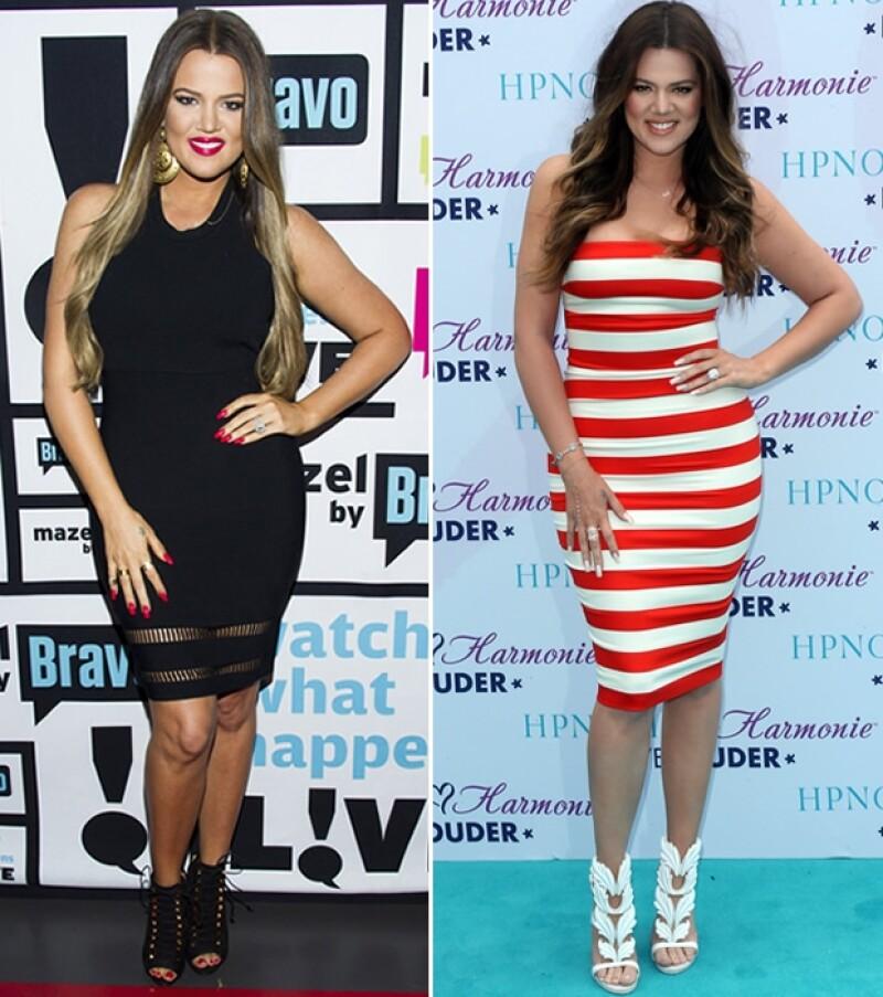 La menor de las Kardashians no ha dudado en presumir su nueva figura luego de perder 11 kilos, que la hacen lucir mejor que nunca.