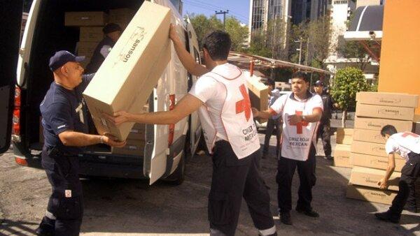 La Cruz Roja está colaborando en la