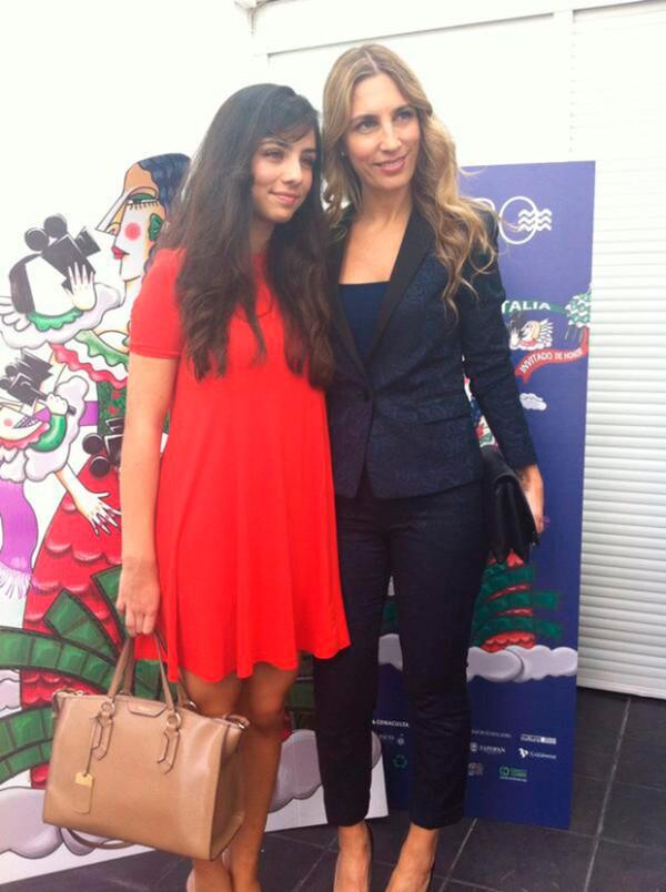 Carina y Fiona en el Festival Internacional de Cine de Guadalajara 2015.