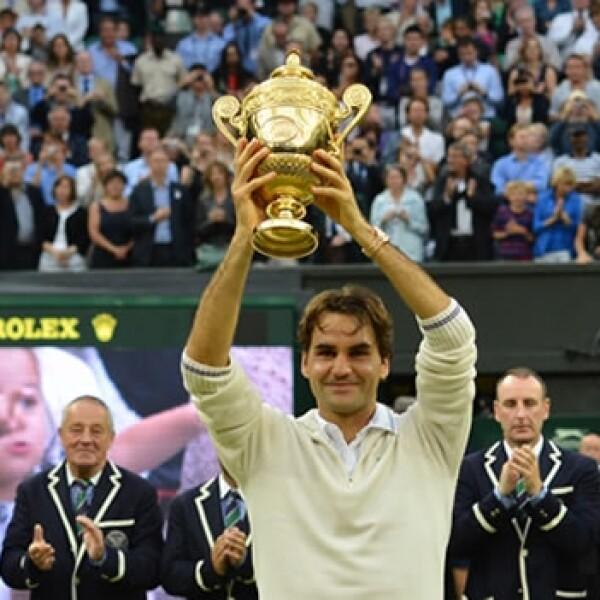 Roger Federer gana en Wimbledon