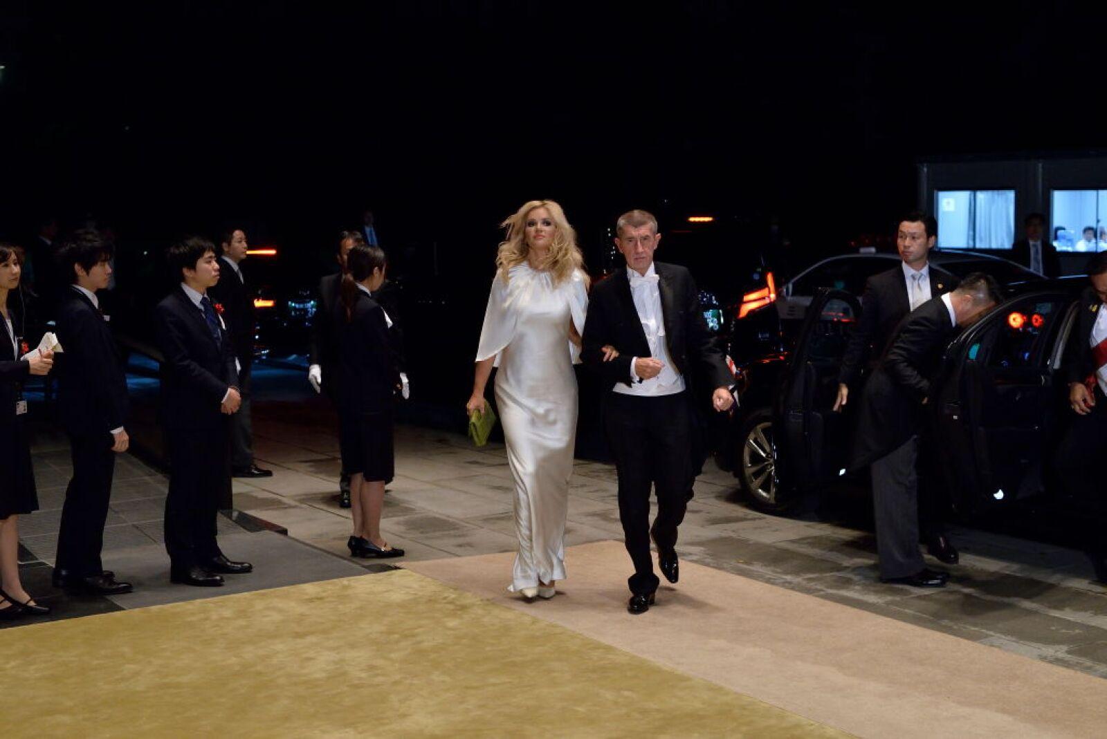 El primer ministro de la República Checa, Andrej Babis, y su esposa, Monika Babisova