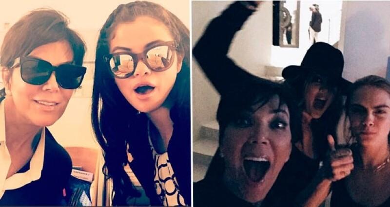 Jenner se divierte con estrellas juveniles como Selena Gomez y Cara Delevingne.