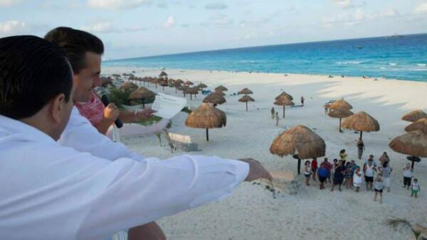 Enrique Pe�a Nieto en Quintana Roo