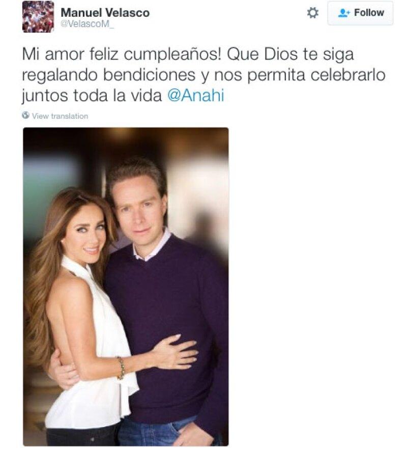 Este fue el tuit con el que Manuel le demostró su gran amor a Anahí.