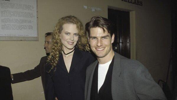 El actor a sus 30 años, durante la conferencia de prensa de la cinta que protagoniza con su ex, Nicole Kidman, Far And Away.