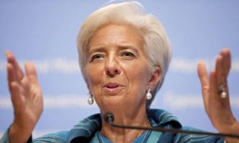 La jefa del FMI, Christine Lagarde, dijo que se debe dar a Grecia máqs tiempo para reducir sus déficits presupuestarios.   (Foto: Reuters)