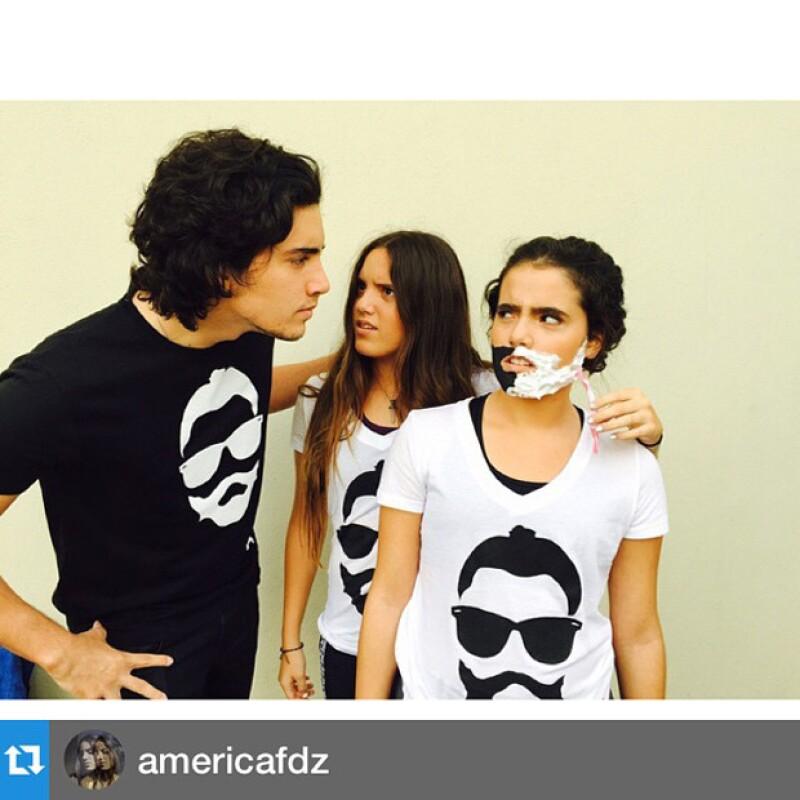 Hace algunas semanas, a manera de invitación al reto Afeitando al Potrillo, sus hijos publicaron una graciosa imagen.