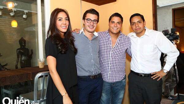 Karen Carpio, Sebastián Garrido, Jorge Martínez y Juan Delgado