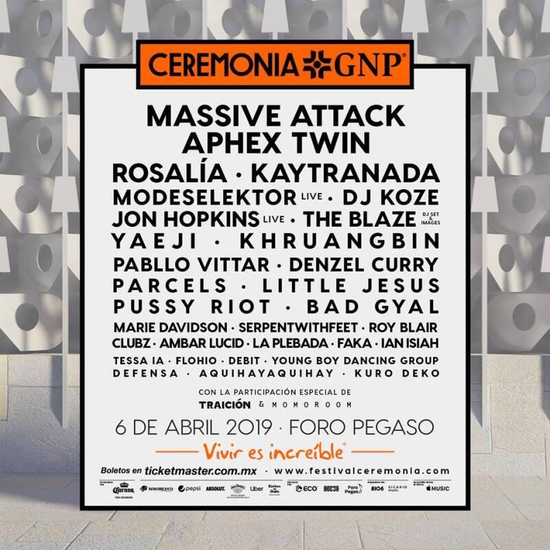 Cartel del festival Ceremonia 2019
