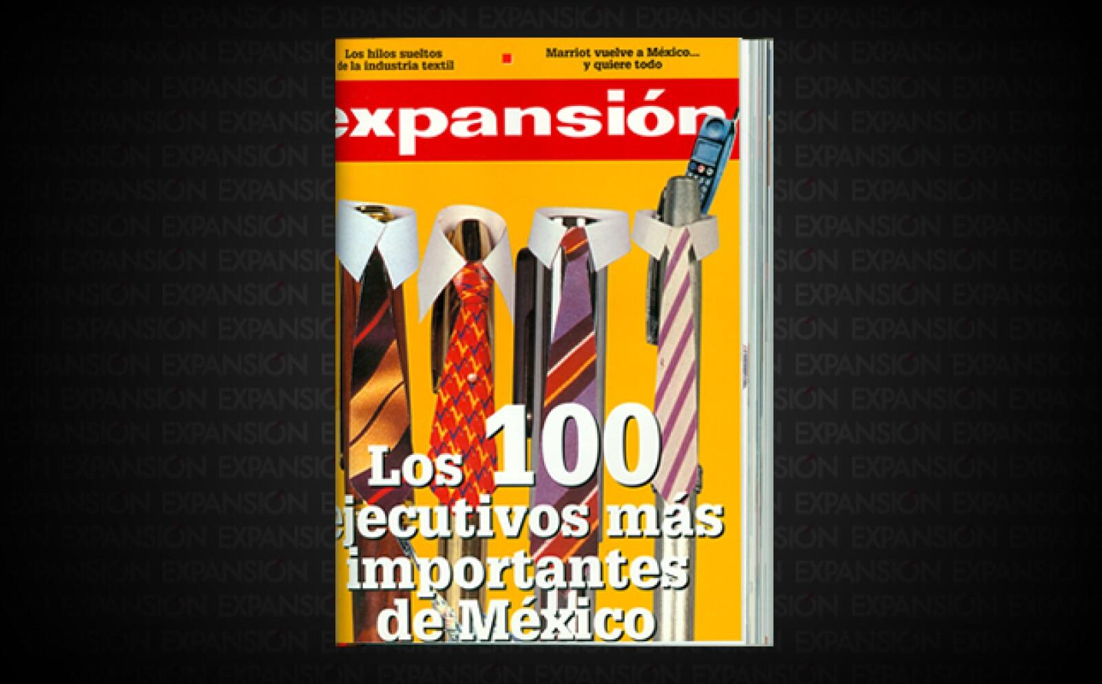 Un repaso al ranking de la revista Expansión a través de sus portadas; Carlos Slim Helú ha coronado la cima durante 16 años de listado.