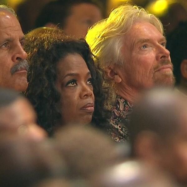 celebridades en el acto de Mandela