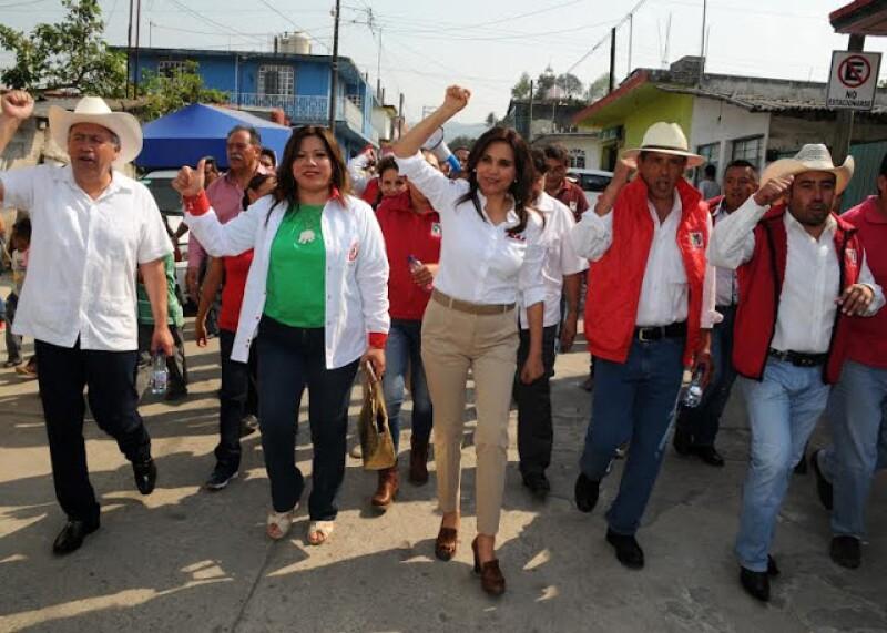 La candidata del PRI, Blanca Alcalá, ha acusado bloqueo para hacer campaña en municipios gobernados por alcaldes del PAN.
