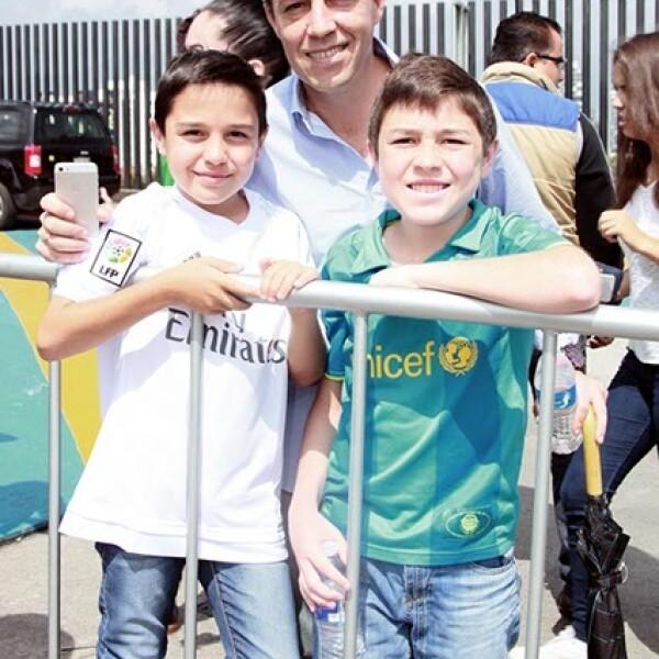 Luciano,Iñigo y Mateo Basurto